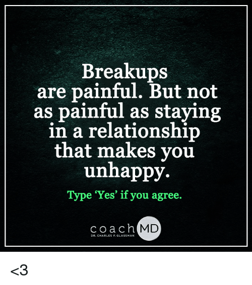 Painful breakups