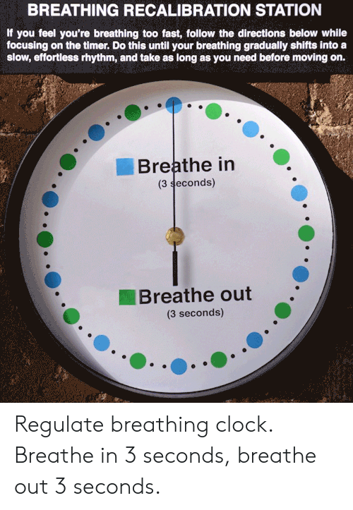 BREATHING RECALIBRATION STATION if You Feel You're Breathing
