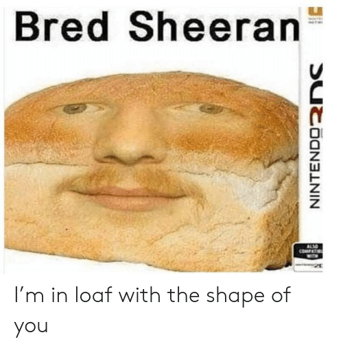 You, Shape, and Sheeran: Bred Sheeran  0 I'm in loaf with the shape of you