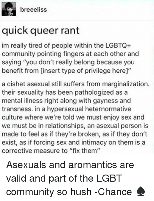 Are asexuals part of the lgbt community