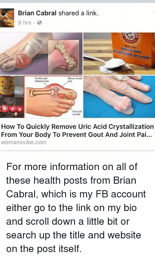 Brian Cabral Shared a Link 9 Hrs Baking Pur Soda De Soude
