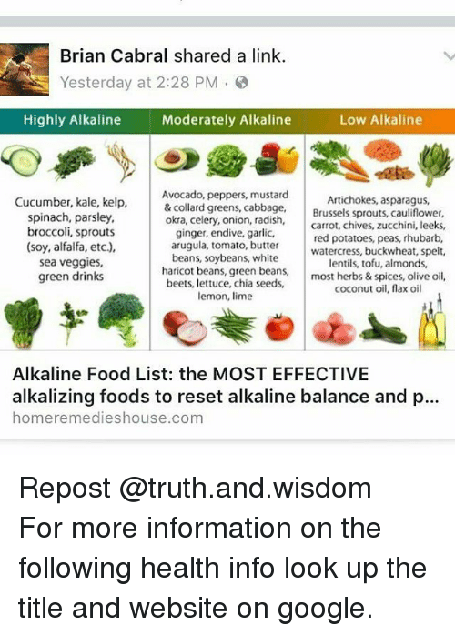 Brian Cabral Shared a Link Yesterday at 228 PM Highly Alkaline