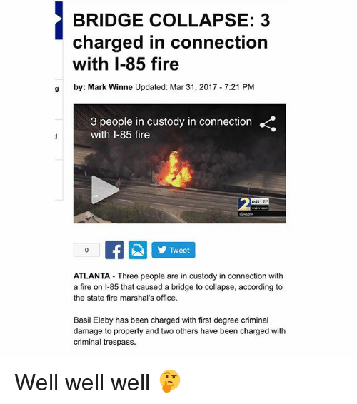 bridge collapse 3 charged in connection with i 85 fire g 18233064 ✅ 25 best memes about chanda kochhar chanda kochhar memes