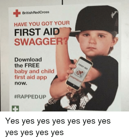 BritishRedCross HAVE YOU GOT YOUR FIRST AID SWAGGER? Download the