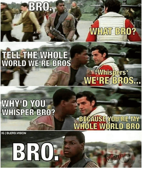 Bro What Bro Tell The Whole World Were Bros Whispers Weire Bros