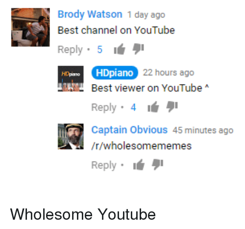 Brody Watson 1 Day Ago Best Channel on YouTube Reply 5