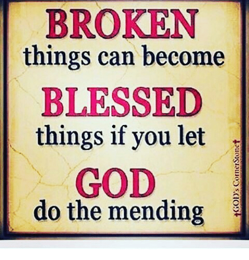 Image result for broken things become blessed things