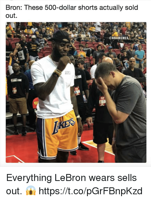 c288532e0a2 Lebron, Everything, and Bron: Bron: These 500-dollar shorts actually sold