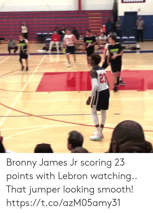 Sizzle: Bronny James Jr scoring 23 points with Lebron watching.. That jumper looking smooth! https://t.co/azM05amy31