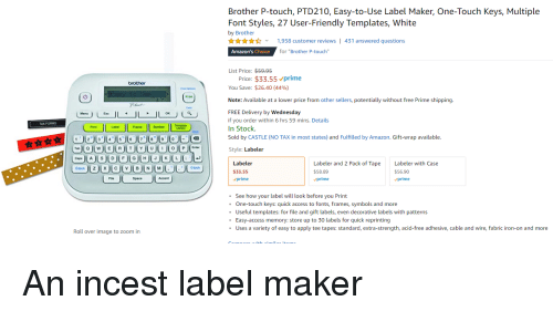 Label Maker With One Touch Keys Multiple Fonts 27 User Friendly Templates White