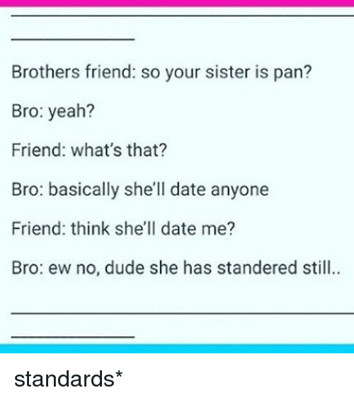 Dating your friends brother
