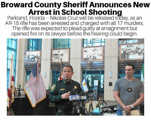 Broward County Sheriff Announces New Arrest In School