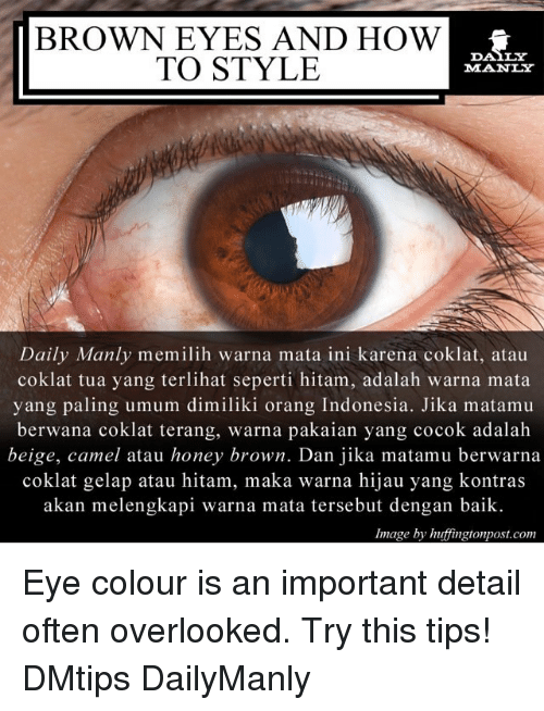 BROWN EYES AND HOW TO STYLE DAILY MANLY Daily Manly Memilih Warna ... 7c645949a6