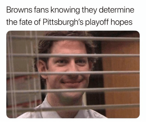 Nfl, Browns, and Fate: Browns fans knowing they determine  the fate of Pittsburgh's playoff hopes