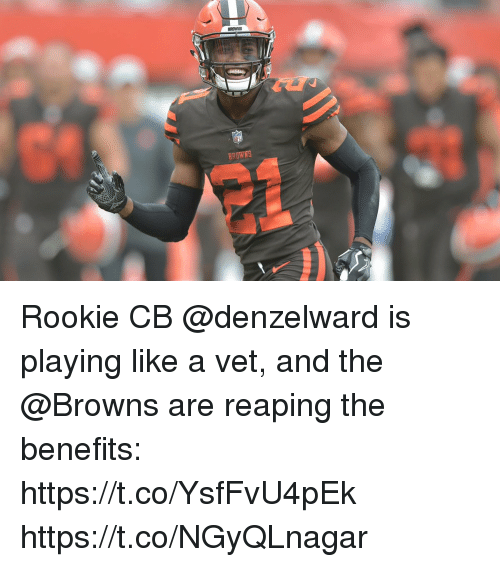 Memes, Browns, and 🤖: BROWRS  BROWNS Rookie CB @denzelward is playing like a vet, and the @Browns are reaping the benefits: https://t.co/YsfFvU4pEk https://t.co/NGyQLnagar