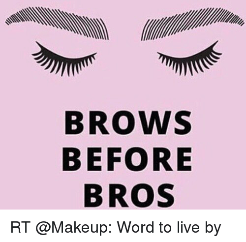 BROWS BEFORE B ROS REB RT Word to Live by | Funny Meme on ...