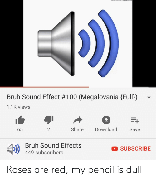 Bruh Sound Effect #100 Megalovania Full 11K Views 65 2 Share