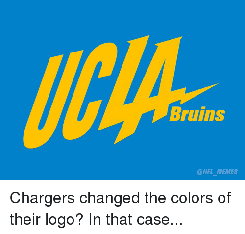 Bruins Nfl Memes Chargers Changed The Colors Of Their Logo In That