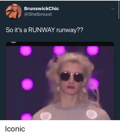 Memes, Iconic, and 🤖: BrunswickChic  @Shelbreast  So it's a RUNWAY runway?? Iconic