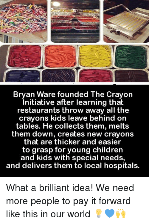 bryan ware founded the crayon initiative after learning that