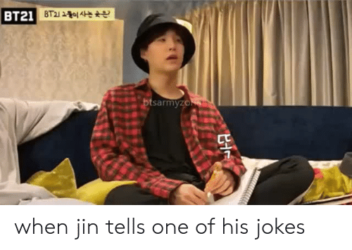 Jokes, One, and Jin: BT21 when jin tells one of his jokes