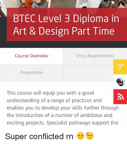 Btec Level 3 Diploma In Art Design Part Time Course