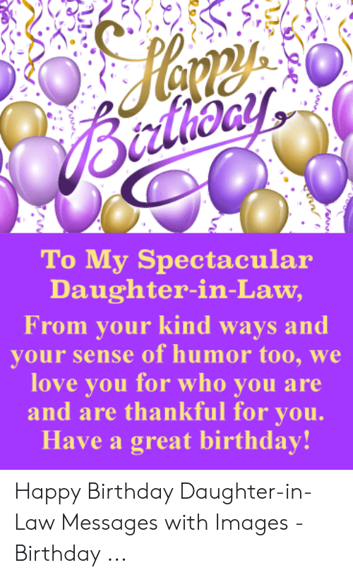 Btrlhony to My Spectacular Daughter-In-Law From Your Kind