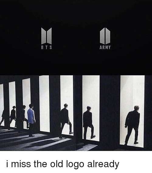 bts army i miss the old logo already meme on meme