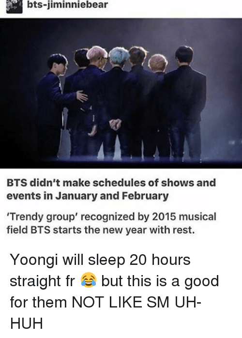Bts-Jiminniebear BTS Didn't Make Schedules of Shows and