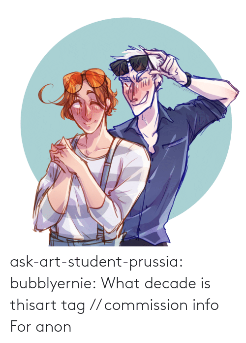 Target, Tumblr, and Blog: bubblyerne ask-art-student-prussia:  bubblyernie:  What decade is thisart tag // commission info   For anon