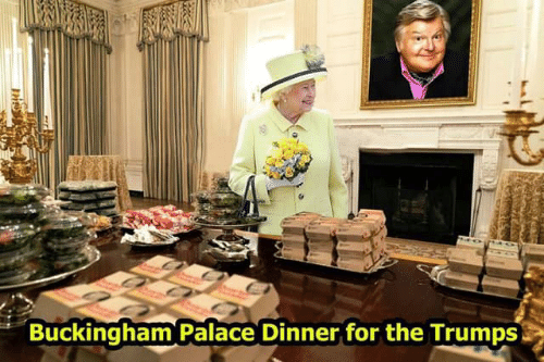 Buckingham Palace, Palace, and For: Buckingham Palace Dinner for the Trumps