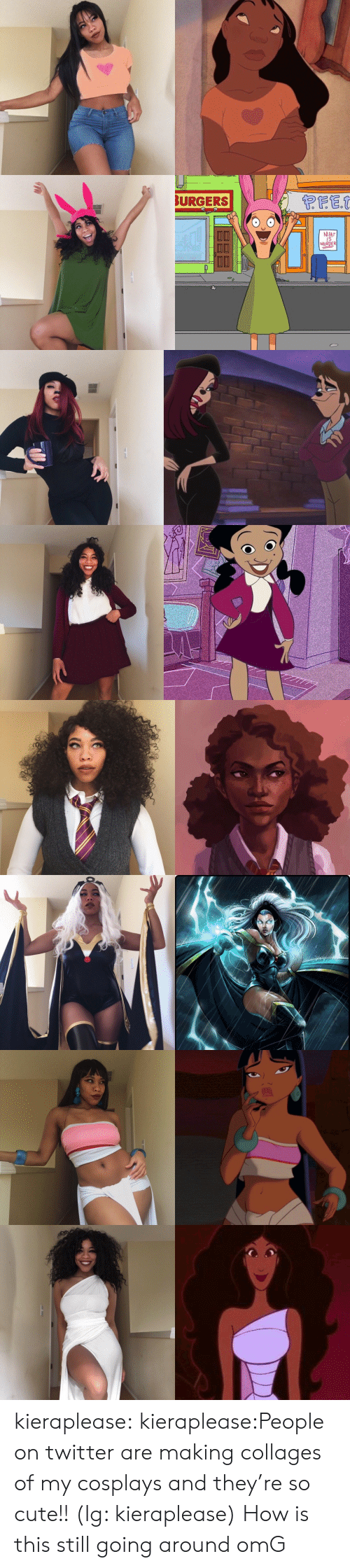 Cute, Instagram, and Omg: BURGERS  MEAT  IS  MURDER kieraplease:  kieraplease:People on twitter are making collages of my cosplays and they're so cute!! (Ig: kieraplease)  How is this still going around omG