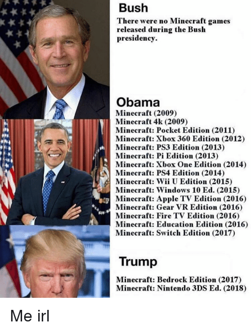 Bush There Were No Minecraft Games Released During the Bush