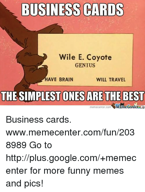 Wile E Coyote Super Genius Business Card | Best Business Cards