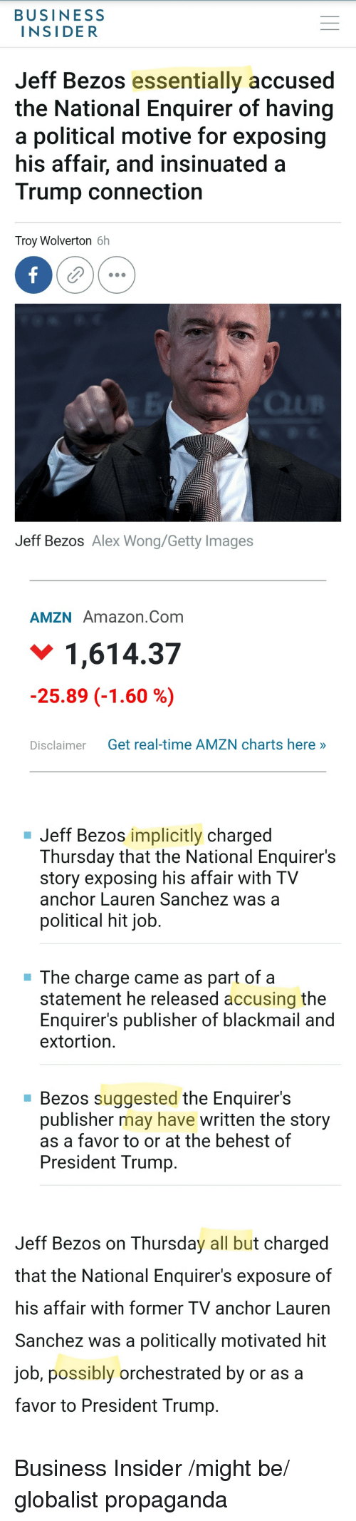 BUSINESS INSIDER Jeff Bezos Essentially Accused the National