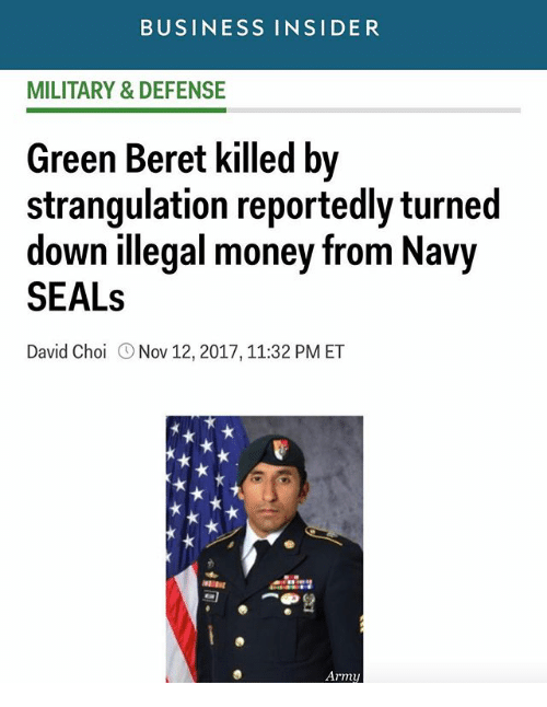 BUSINESS INSIDER MILITARY & DEFENSE Green Beret Killed by ...