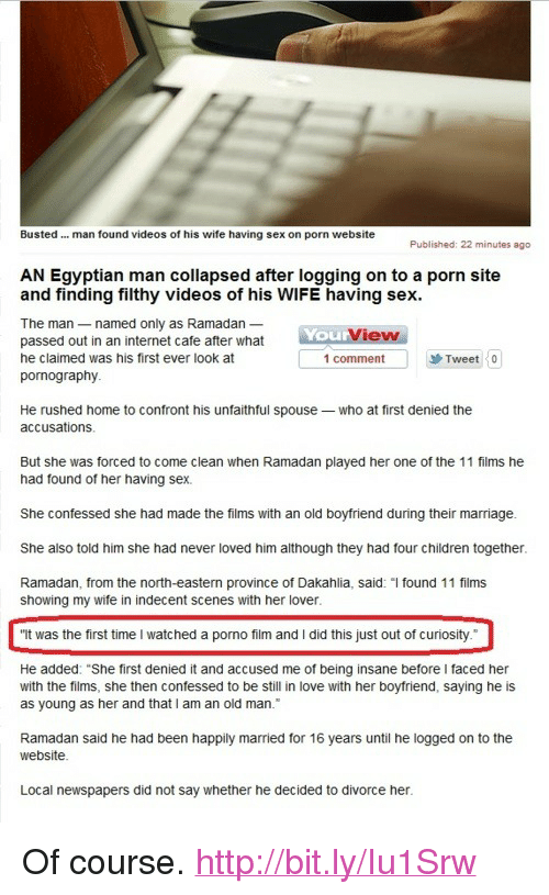 Sex having wife busted