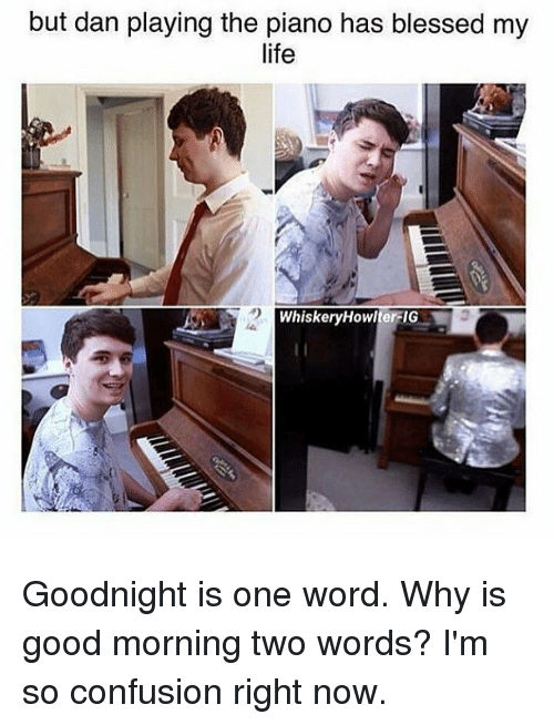 But Dan Playing The Piano Has Blessed My Life Whiskeryhowlterfig Y