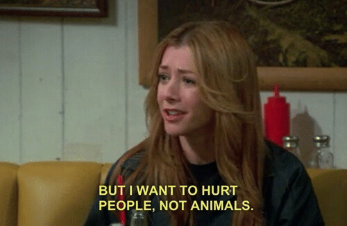 Animals, People, and I Want To: BUT I WANT TO HURT  PEOPLE, NOT ANIMALS