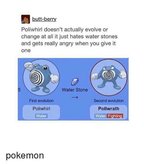 fb7e5cba Butt, Memes, and Evolution: butt-berry Poliwhirl doesn't actually evolve