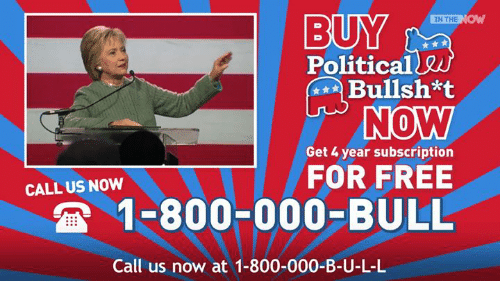 Dank, Politics, and Bulls: BUY  IN THE  NO  Political  INO MW  Get 4 year subscription  FOR FREE  CALL US NOW  1-800-000-BULL  Call us now at 1-800-000-B-U-L-L