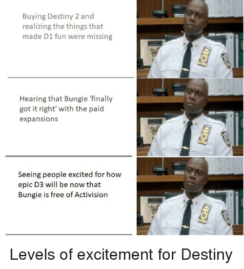 Buying Destiny 2 and Realizing the Things That Made D1 Fun Were
