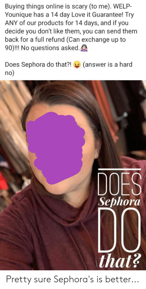 Buying Things Online Is Scary to Me WELP- Younique Has a 14