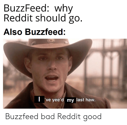 BuzzFeed Why Reddit Should Go Also Buzzfeed Ve Yee'd My Last Haw