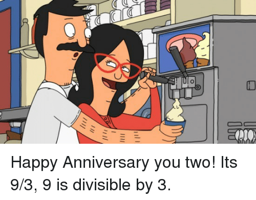 C 00ーーー Happy Anniversary You Two Its 93 9 Is Divisible By 3
