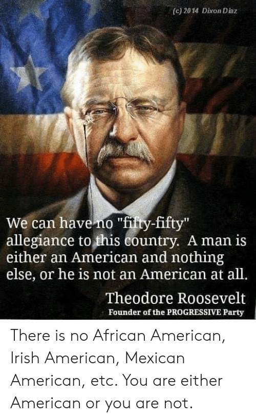 C 2014 Dixon Diaz We Can Have No Ftity-Fifty Allegiance to