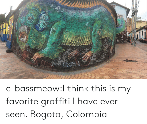 Graffiti, Tumblr, and Blog: c-bassmeow:I think this is my favorite graffiti I have ever seen. Bogota, Colombia