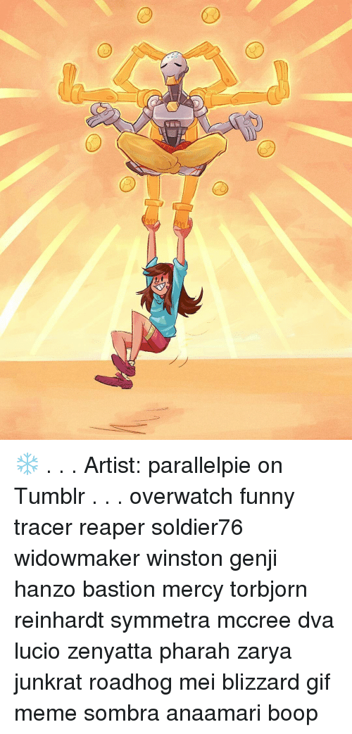 C D Artist Parallelpie On Tumblr Overwatch Funny Tracer Reaper