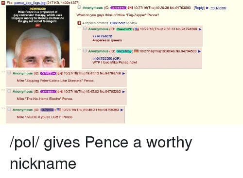 Mike electrocute gay pence