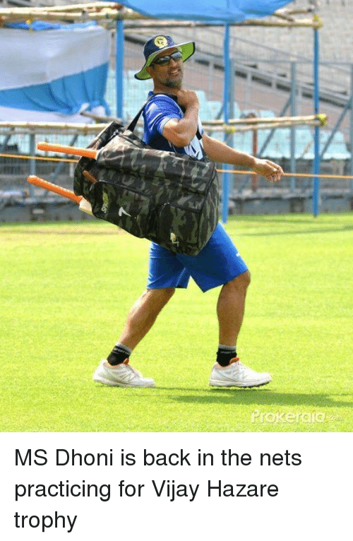 Memes, 🤖, and Net: C MS Dhoni is back in the nets practicing for Vijay Hazare trophy